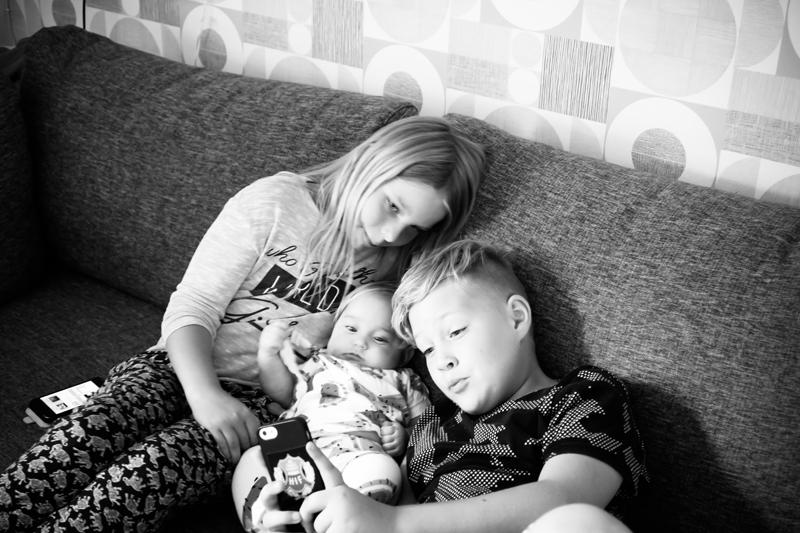 Mys med storebror och kusin Alice